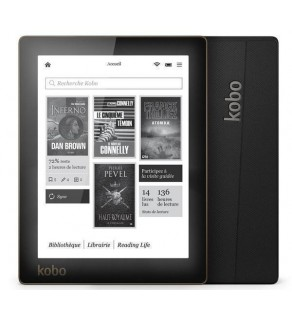 "KOBO Kobo Aura 6"" monochrome E Ink - touch sensitive - black - eBook"