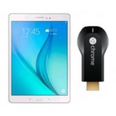 SAMSUNG Galaxy Tab A 9.7 + Chromecast Refurbished (Wi-Fi, 16GB, White + UK Plug)