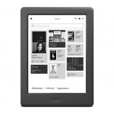 "KOBO 6"" monochrome E Ink HD Glo - tactile - black - e-book reader"